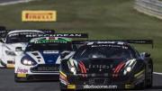 Villorba Ferrari 458 fighting on track at Zolder