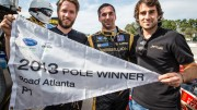 Pole winner Neel Jani with teammates Nick Heidfeld and Nicolas Prost