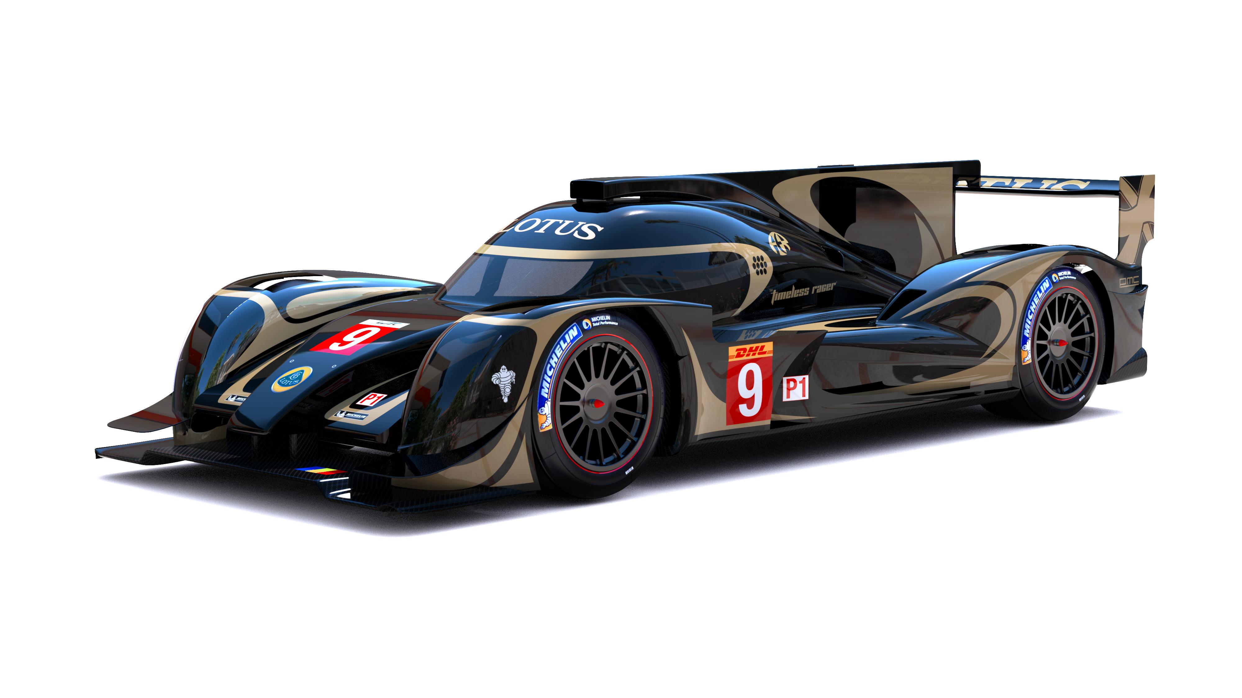 new car render of the 2014 lotus lmp1 wec. Black Bedroom Furniture Sets. Home Design Ideas