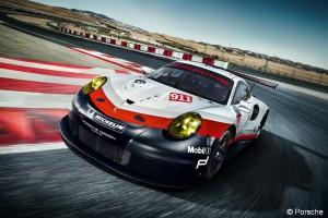 2017 Porsche 911 RSR - On-Track- Cornering- Overhead