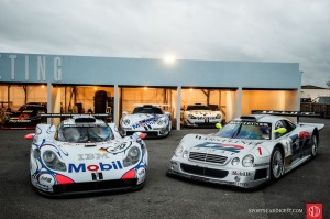 Porsche 911 GT1 and Mercedes-Benz CLK GTR
